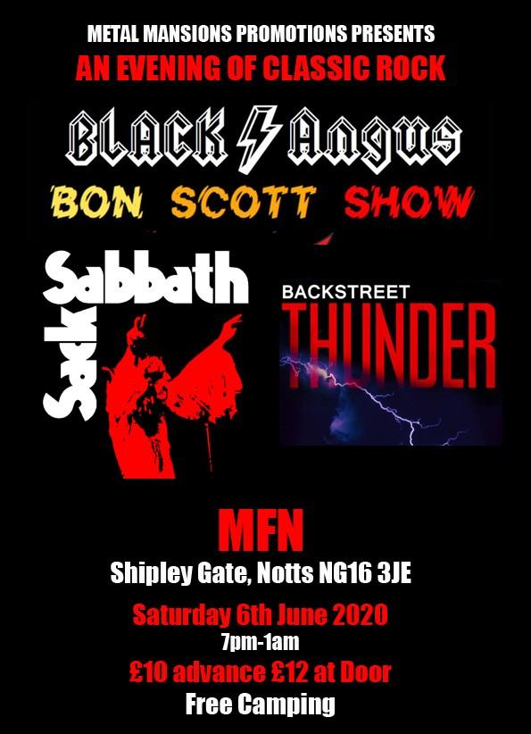 ACDC, Sabbath and Thunder tributes at MFN