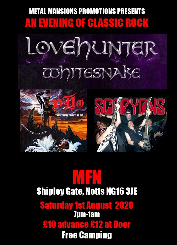 Whitesnake, Dio and Scorpions tributes at MFN