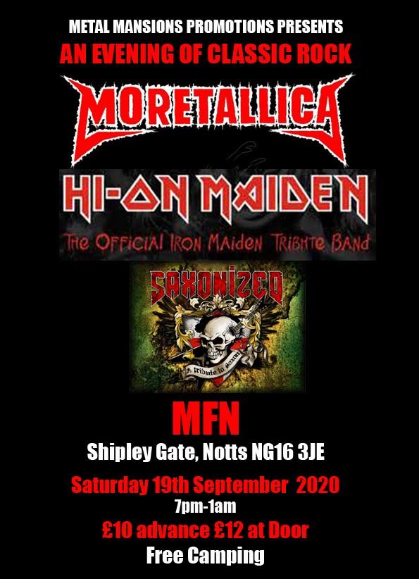 Metallica, maiden and Saxon tributes at MFN