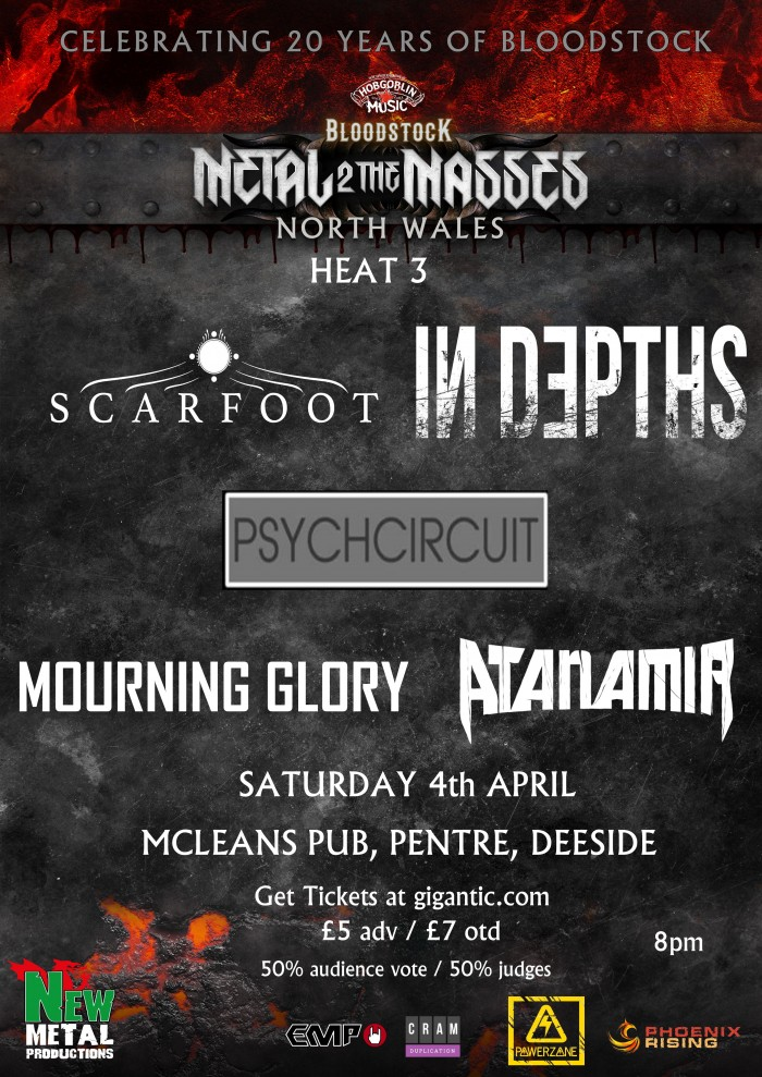 M2TM North Wales Heat 3: Scarfoot, In Depths, Mourning Glory, Atanamir, Psychcircuit