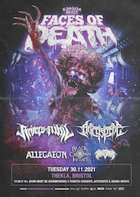 Rising Merch Faces of Death Tour 2021 - Bristol