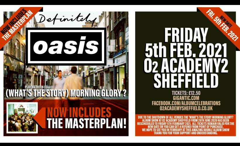 Definitely Oasis perform What's The Story Morning Glory? in it's entirety tickets