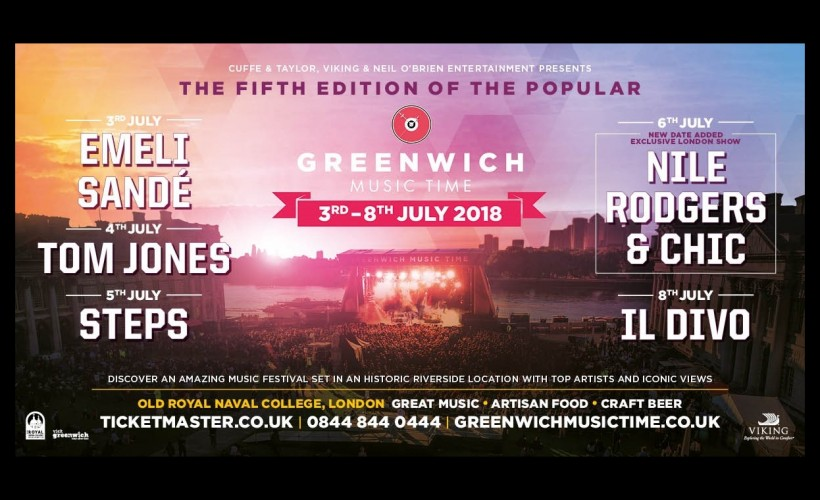 Greenwich Music Time - Nile Rodgers & CHIC  tickets