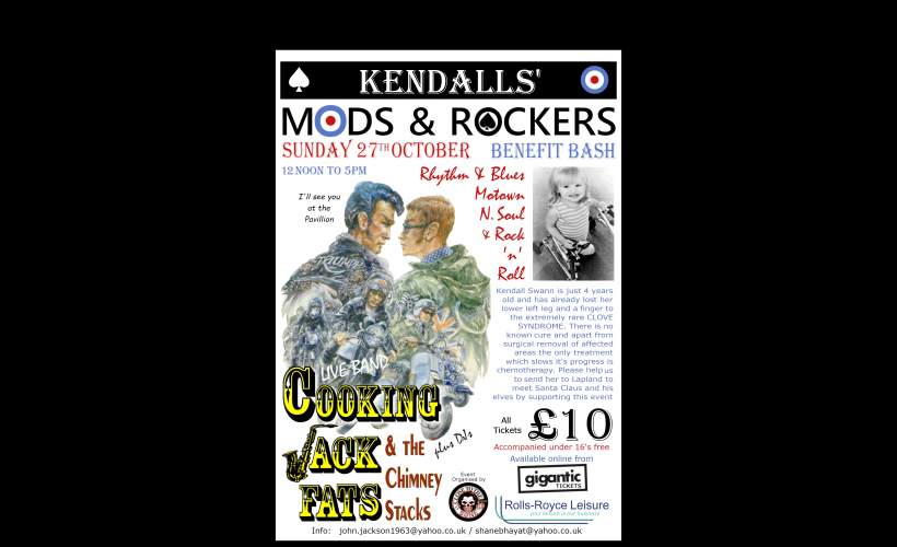Kendalls' Mods and Rockers Benefit Bash tickets