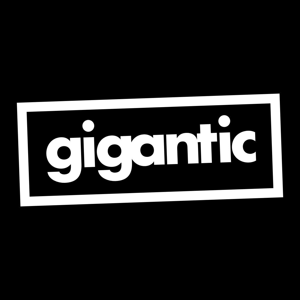 Gigantic Logo White